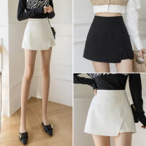 skirt Spring 2021 S,M,L,XL White, black Short skirt commute Irregular Solid color 18-24 years old JZT 51% (inclusive) - 70% (inclusive) other polyester fiber Korean version