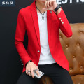 man 's suit Black white red yellow 2095 white 2095 red 2095 orange Jonas Fashion City thin M L XL 2XL 3XL 4XL L550 Polyester 93% polyurethane elastic fiber (spandex) 7% Autumn of 2018 Self cultivation A single breasted button Other leisure No slits Pure e-commerce (online only) youth Long sleeves