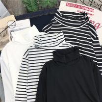 T-shirt 601 thin white 601 thin black 604 Plush White 604 Plush black M L XL XXL Summer of 2019 Long sleeves Regular polyester fiber 86% (inclusive) -95% (inclusive) Tai Anli 601;'' 3D Old Lace Up Polyester 95% polyurethane elastic fiber (spandex) 5%