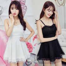 Pajamas / housewear set male Ezrin Average size Light blue, white, yellow, black, lotus root pink wool Sleeveless Socket Short skirt