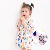 Dress female Other / other 90cm Cotton 100% summer leisure time Skirt / vest Cartoon animation cotton other 2 years old, 3 years old, 4 years old, 5 years old, 6 years old, 7 years old, 8 years old