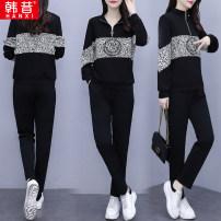 Fashion suit Spring 2021 L XL XXL XXXL XXXXL Regular black 25-35 years old Han Xi HX9683 Other 100% Pure e-commerce (online only)