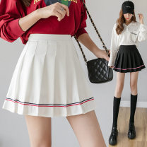 skirt Autumn of 2019 S,XL,XS,L,M,XXL Black [color terms], Navy [color terms], white [color terms], pink [color terms] longuette commute Pleated skirt Solid color 18-24 years old Striped pleated skirt 888 71% (inclusive) - 80% (inclusive) other Nylon Haolun other Stitching, folding