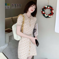 Dress Summer 2021 Picture color S M L XL Middle-skirt Short sleeve commute other Others 18-24 years old Yingzi instrument More than 95% other Other 100% Same model in shopping mall (sold online and offline)