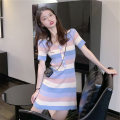Women's large Summer 2021 Picture color S M L XL Dress commute Short sleeve Yingzi instrument 18-24 years old Middle-skirt Other 100%