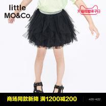 skirt 110/53 120/53 130/56 140/58 150/61 155/64 This is white and black Little MO&CO. female Polyamide fiber (nylon) 100% summer skirt Europe and America Solid color Fluffy skirt nylon KBA2SKT002 Class B Summer 2021