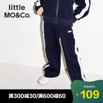trousers Little MO&CO. male 110/50 110/53 120/56 130/59 140/60 150/63 Dark blue spring and autumn trousers Europe and America There are models in the real shooting Casual pants Leather belt middle-waisted Don't open the crotch Polyester 64.8% cotton 35.2% KA183PAT218 Autumn of 2018