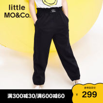 trousers Little MO&CO. female 110/53 120/53 130/56 140/58 150/61 155/64 Medium flower grey Hibiscus purple black spring trousers Europe and America There are models in the real shooting Casual pants Leather belt middle-waisted Don't open the crotch KBA1PATT03 Class B Spring 2021 Chinese Mainland