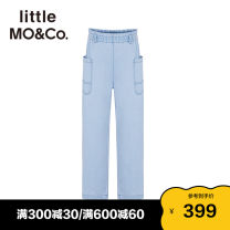 trousers Little MO&CO. neutral 110/53 120/53 130/56 140/58 150/61 155/64 Denim blue summer trousers Europe and America There are models in the real shooting Jeans Leather belt middle-waisted Pure cotton (100% content) Don't open the crotch Cotton 100% KBA2JENT02 Summer 2021 Chinese Mainland