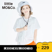 T-shirt Little MO&CO. male summer Short sleeve Crew neck Europe and America There are models in the real shooting nothing Pure cotton (100% cotton content) stripe Cotton 100% Class B Summer 2021 Chinese Mainland Guangdong Province Guangzhou City