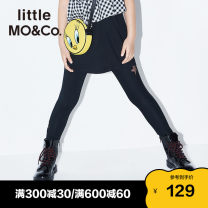 trousers Little MO&CO. female 110/50 110/53 120/53 130/56 140/58 150/61 155/64 This is white and black summer trousers Europe and America There are models in the real shooting Leggings Leather belt middle-waisted Don't open the crotch Class B Summer 2020 Chinese Mainland Guangdong Province