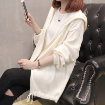 Wool knitwear Autumn 2020 S M L XL White black Long sleeves singleton  Cardigan other More than 95% Regular routine commute easy Hood routine Solid color zipper Doliefay / Du Lifen Lace up zipper Other 100% Pure e-commerce (online only)
