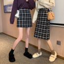 skirt Autumn 2020 S,M,L Mid length dress commute High waist A-line skirt lattice Type A 18-24 years old 31% (inclusive) - 50% (inclusive) Other / other Korean version