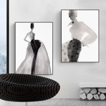 Modern decorative painting Single price Simple and modern plane Spray painting Framed canvas single width PS
