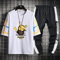 T-shirt Youth fashion routine 4XL M L XL 2XL 3XL Guest speech Short sleeve Crew neck easy Other leisure summer TZ 2623 Cotton 100% teenagers routine tide Cotton wool Summer 2021 Cartoon animation printing cotton Creative interest No iron treatment Pure e-commerce (online only) More than 95%