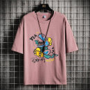 T-shirt Youth fashion Myy3691 white myy3691 black myy3691 dark gray myy3691 blue green myy3691 blue myy3691 Pink routine M L XL 2XL 3XL Guest speech Short sleeve Crew neck easy Other leisure summer MYY3691-1 Cotton 100% teenagers routine tide Cotton wool Summer 2021 Cartoon animation printing cotton
