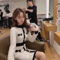 Women's large Winter 2020 Black apricot S M L XL Dress singleton  commute moderate Socket Long sleeves Solid color Korean version High collar routine routine Soaino 18-24 years old Medium length Other 100% Pure e-commerce (online only) other