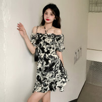 Women's large Spring 2021, summer 2021, autumn 2021 Picture color L (recommended 100-120 kg), XL (recommended 120-135 kg), 2XL (recommended 135-150 kg), 3XL (recommended 150-165 kg), 4XL (recommended 165-180 kg) to ensure that the real object is consistent with the picture Dress singleton  commute