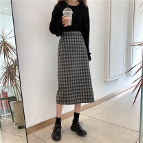 Women's large Winter 2020, autumn 2020 Milk tea apricot, dark gray check, black sweater, apricot sweater S. M, l (100-120 kg recommended), XL (120-140 kg recommended), 2XL (140-160 kg recommended), 3XL (160-180 kg recommended) to ensure that the real object is consistent with the picture sweater easy