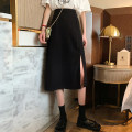 skirt Summer 2021 S. M, l (recommended 100-120 kg), XL (recommended 120-140 kg), 2XL (140-160 kg recommended), 3XL (160-180 kg recommended), 4XL (180-200 kg recommended), to ensure that the real object is consistent with the picture Apricot, black Mid length dress commute High waist A-line skirt