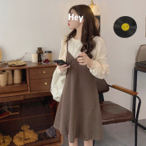 Women's large Autumn 2020 Black with grey, apricot with caramel M (recommended 80-100 kg), l (recommended 100-120 kg), XL (recommended 120-140 kg), 2XL (recommended 140-160 kg), 3XL (recommended 160-180 kg), 4XL (recommended 180-200 kg) to ensure that the real object is consistent with the picture