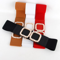 Belt / belt / chain other Black, camel, red, white female Waistband Versatile Single loop Youth, youth, middle age a hook other soft surface 6cm alloy Bare, inlaid, elastic 66cm