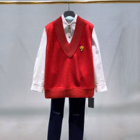 Vest Spring 2021 Red, gray S,M,L,XL routine V-neck Versatile straps 30-34 years old Santa Anastasia 51% (inclusive) - 70% (inclusive) cotton Embroidery