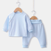 suit Other / other Light blue, off white, pink, yellow 66cm,100cm,90cm,80cm,73cm neutral spring and autumn Simplicity Long sleeve + pants 2 pieces routine No model Solid color Pure cotton (100% cotton content) Class A 10 years old