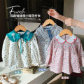 shirt Feather blue, rose powder, Camellia green, Camellia green, feather blue, rose powder luson female 80, 90, 100, 110, 120, 130, 140 spring Long sleeves fresh Broken flowers cotton Other 100% GLC1006