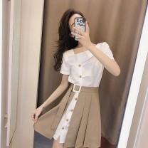 Cufflinks White + Khaki [M] white + Khaki [l] white + Khaki [XL] white + black [S] white + black [M] white + black [l] white + black [XL] white + Khaki [S] other Ou Yulin Summer 2021