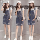 Dress Summer of 2018 XS S M L XL 2XL Short skirt singleton  Sleeveless commute High waist Solid color Socket A-line skirt other straps 18-24 years old Type H Beautiful rainbow Korean version Hand worn pocket QHZ-M119# More than 95% other Other 100% Pure e-commerce (online only)