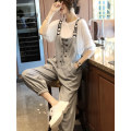 Casual pants Grey pants, black pants, white T-shirt S,M,L,XL Spring 2021 trousers Straight pants High waist commute 96% and above T022701S Touch miss other