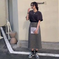 Professional dress suit S M L XL Black and white check Spring 2021 Other styles A-line skirt 18-25 years old Companion shadow Polyester 80% other 20% Pure e-commerce (online only) 51% (inclusive) - 70% (inclusive)