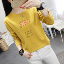 T-shirt M L XL XXL Autumn of 2018 Long sleeves Crew neck easy Regular routine commute polyester fiber 86% (inclusive) -95% (inclusive) 18-24 years old Korean version youth letter Liena Beti / Lena Betty printing Polyester 95% polyurethane elastic fiber (spandex) 5% Pure e-commerce (online only)