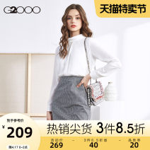 Dress Autumn of 2019 White grid splicing / 99 155/76A/XS 160/80A/S 165/84A/M 170/88A/L 175/92A/XL Short skirt Long sleeves commute High waist lattice 25-29 years old G2000 Ol style 51% (inclusive) - 70% (inclusive) polyester fiber Same model in shopping mall (sold online and offline)