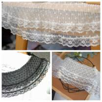 lace White 50 cm long, black 50 cm long