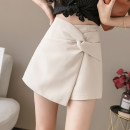 Casual pants Apricot, green, black S,M,L,XL,2XL Summer 2020 shorts Wide leg pants High waist commute routine 18-24 years old 31% (inclusive) - 50% (inclusive) other Korean version polyester fiber Asymmetry