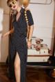 Dress Summer 2021 Mid length dress singleton  Sleeveless commute V-neck High waist Dot other A-line skirt shirt sleeve Type A pussycat Britain Bowknot, lace, stitching, bandage 69236 S,M,L black