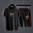 T-shirt Fashion City Dd6119 Shorts Set thin L,XL,2XL,3XL,4XL,5XL,6XL Others Short sleeve Crew neck Self cultivation Other leisure summer ADP258963 2021