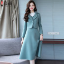 Dress Winter of 2018 M,L,XL,2XL longuette Two piece set Long sleeves commute other middle-waisted zipper A-line skirt routine Others 25-29 years old Other / other Korean version other