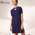 Dress Summer of 2019 Tibetan green 2/M 4/L 6/XL 8/XXL Mid length dress singleton  middle-waisted other routine 30-34 years old Type X D'modes 31% (inclusive) - 50% (inclusive) nylon