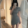 Dress Summer 2021 Galaxy grey ~ spot, milk cake white ~ spot S,M,L Short skirt Short sleeve 31% (inclusive) - 50% (inclusive) other