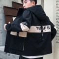 Jacket Knowledge system Youth fashion M/165 L/170 XL/175 XXL/180 XXXL/185 routine Self cultivation Other leisure spring Polyester 100% Long sleeves Wear out Hood Youthful vigor teenagers routine Zipper placket Cloth hem No iron treatment Closing sleeve other Spring of 2019 Color matching