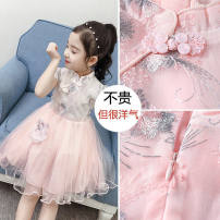 Dress female Other / other Other 100% summer Korean version Short sleeve Solid color other A-line skirt Chinese Mainland