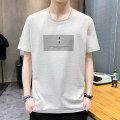 T-shirt Youth fashion thin 165/M 170/L 175/XL 180/2XL 185/3XL Emperor state Short sleeve Crew neck easy daily summer DT-2512 Cotton 100% youth routine tide Summer 2020 Alphanumeric printing The thought of writing No iron treatment Fashion brand