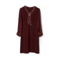 Dress Spring 2021 Red, black L , 4XL , 2XL , 6XL , XS , XL , M , 5XL , 3XL , S , F singleton  Long sleeves V-neck Socket routine 30-34 years old 9 Charms 9m