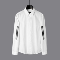 shirt Youth fashion 9 Charms S,XL,2XL,M,3XL,L,XS white routine Button collar Long sleeves standard Other leisure spring 9m youth 2021