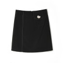 skirt Spring 2021 Black, red Middle-skirt Versatile Natural waist A-line skirt 25-29 years old 9m 9 Charms