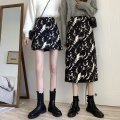 skirt Spring 2021 S,M,L Black short , Black long , q longuette commute High waist A-line skirt Decor Type A 18-24 years old Other / other other
