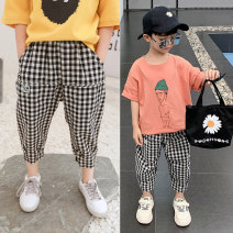 trousers Changing trend children male 110cm 120cm 130cm 140cm 150cm 160cm Check! Spot now! Don't be greedy for big size summer trousers leisure time There are models in the real shooting Casual pants Leather belt middle-waisted Pure cotton (100% content) Don't open the crotch Cotton 100% cxxk9209-1